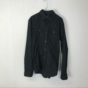Hugo Boss mens black slim fit dress shirt M